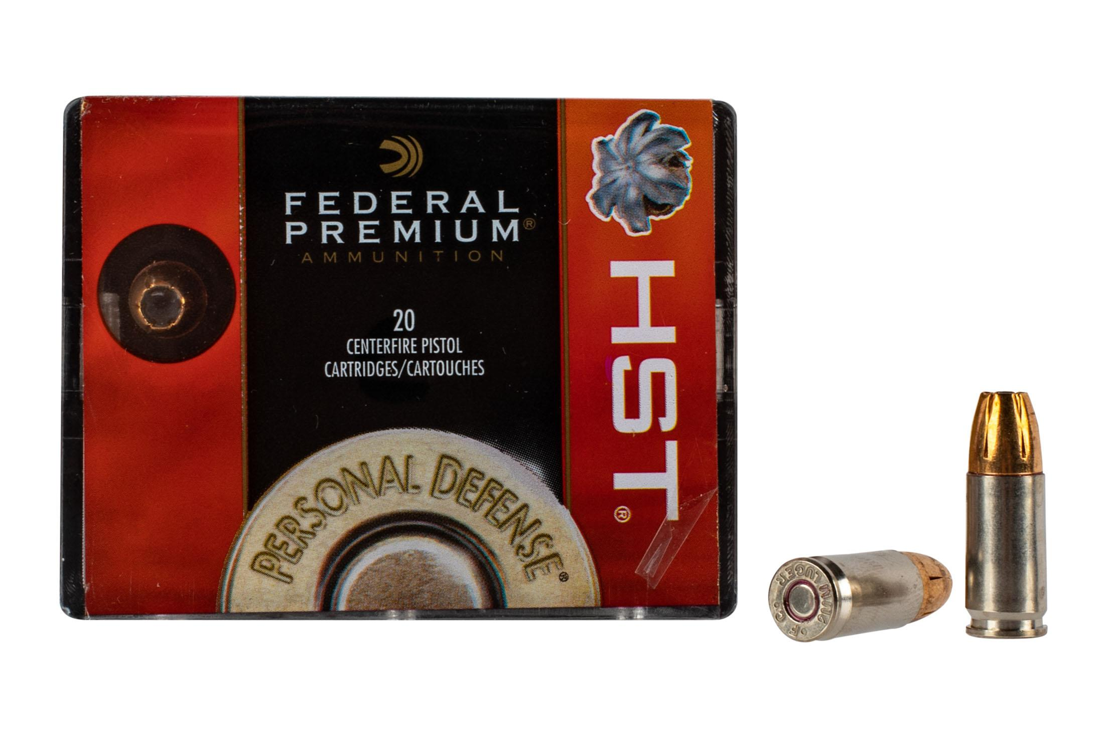Federal HST Ammo is loaded with nickel plated brass cases