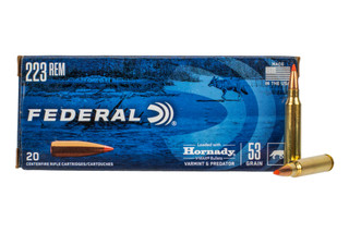 Federal Varmint & Predator .223 Remington 53-grain V-MAX ammo is available in 20 round boxes.