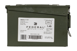 Federal XM855 5.56 NATO 420 round ammo can with full metal jacket boat tail steel core bullets