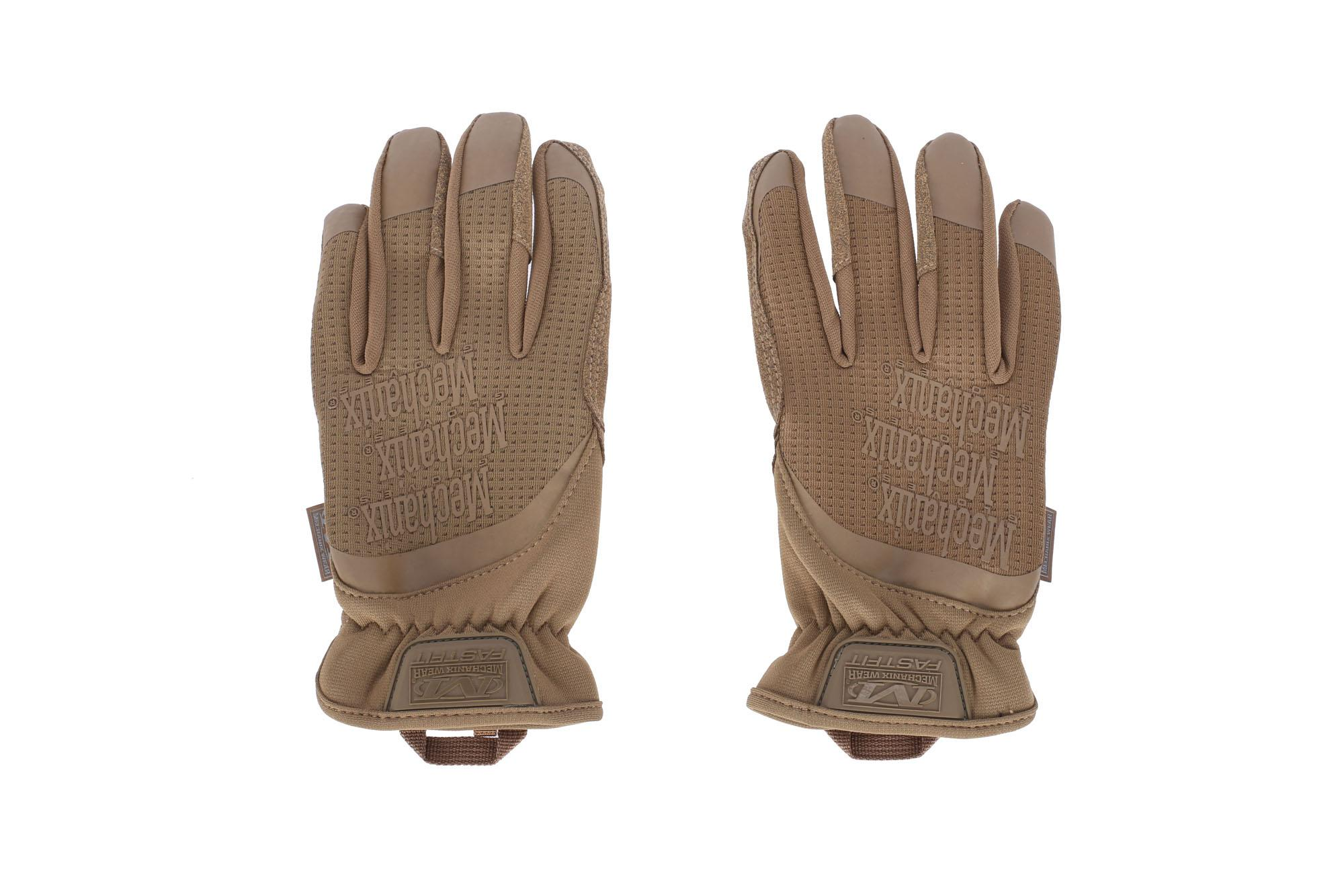 Small, Brown Mechanix Wear FastFit Coyote Touch Screen Gloves