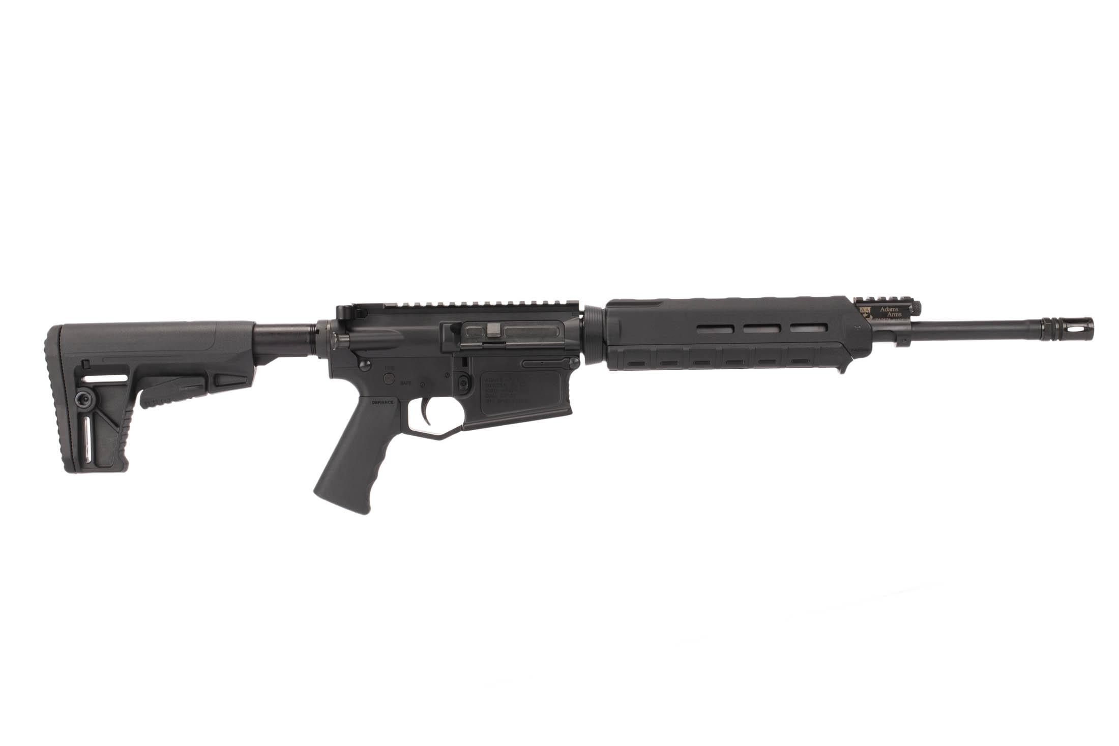 Adams Arms 16in .308 Win AR-10 rifle with 10in M-LOK rail is powered by reliable short stroke gas piston