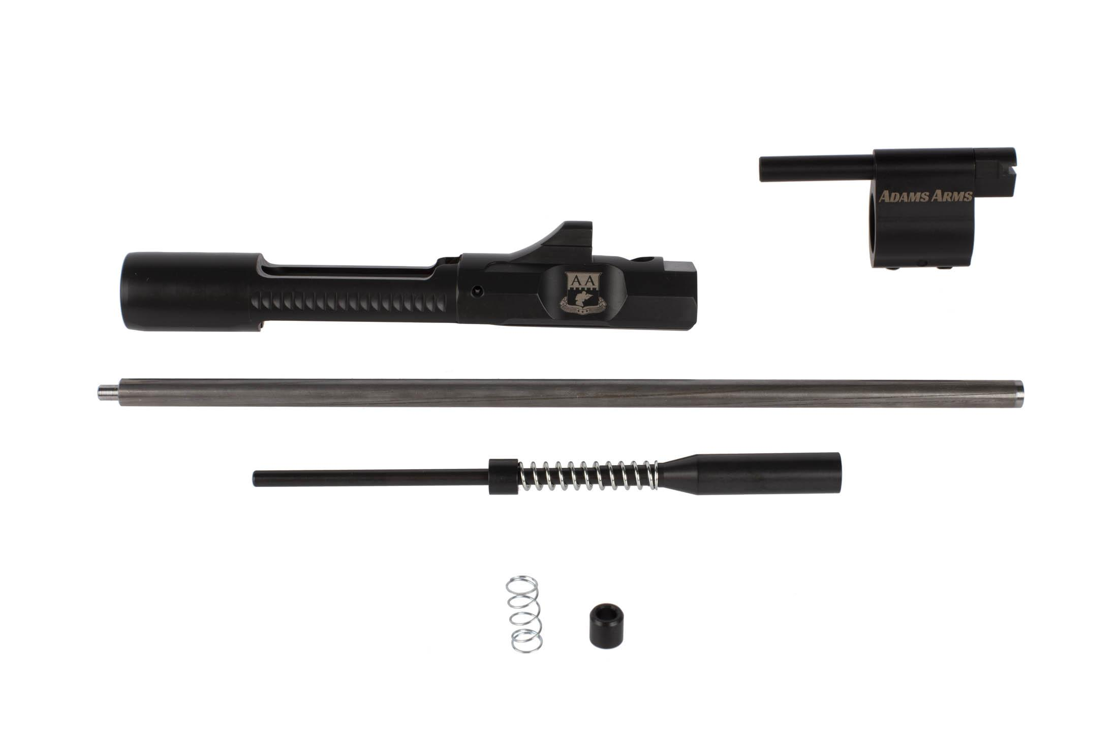 Adams Arms P-Series adjustable AR-15 piston conversion kit includes a pistol length piston and M16 bolt carrier group.