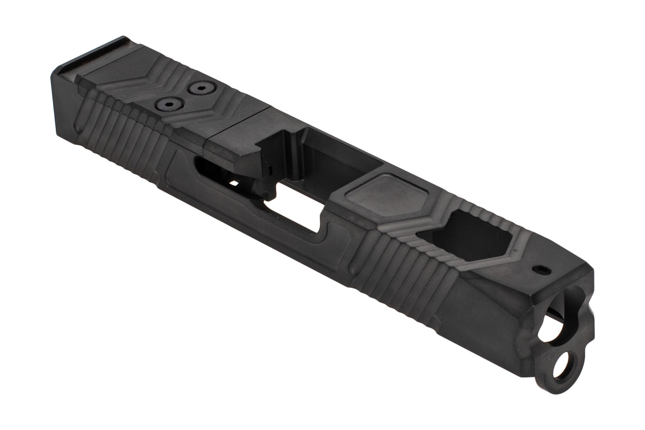 Voodoo Innovations Glock 19 VS19 stripped slide is milled for red dot sights