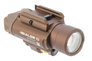 Olight Baldr Pro Pistol light features a tan anodized finish