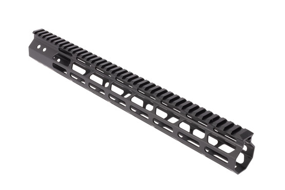 FM Products 15in Ultra Light AR-15 free float handguard features M-LOK slots at the 3-,6-, and 9 o'clock positions for modularity
