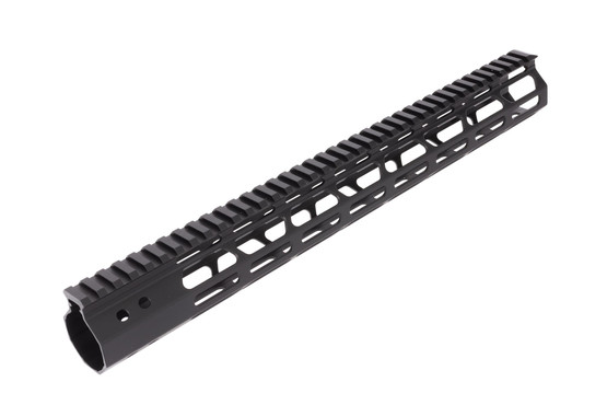 FM Products free float 15in ultra light AR15 M-LOK rail features a full length M1913 Picatinny top rail for your favorite accessories