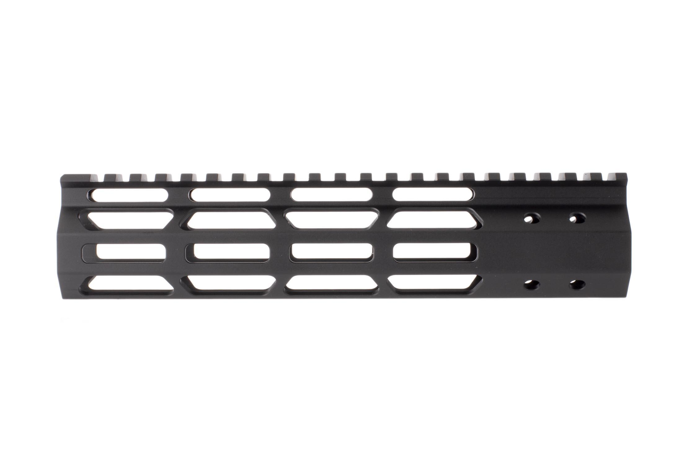 FM Products ultra light free float M-LOK handguard provides 8.5 inches of real estate for accessories and includes mounting hardware.