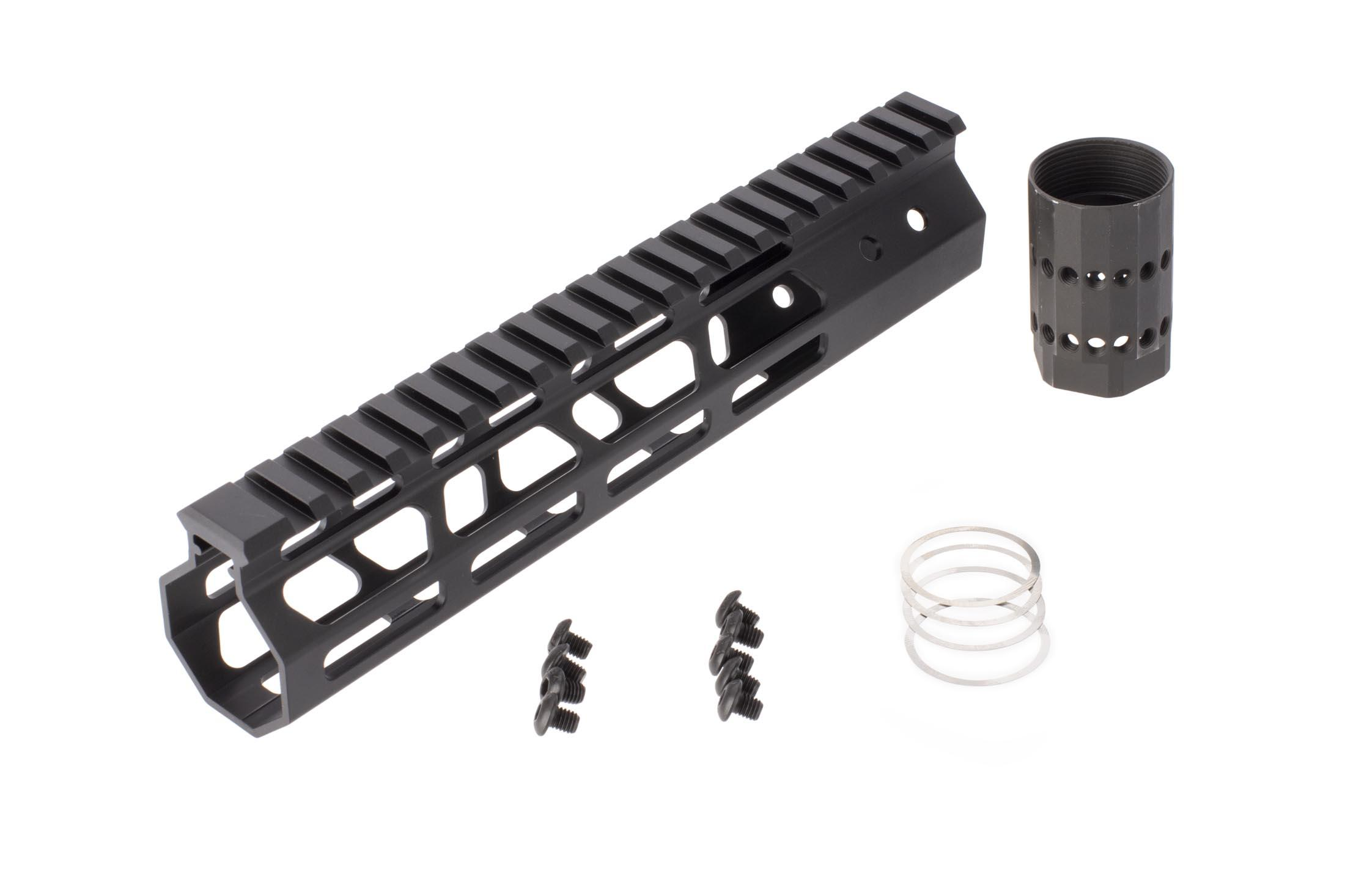 FM Products ultra light free float M-LOK handguard includes mounting hardware.
