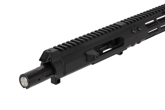 The Foxtrot Mike Products 9mm side charging upper is machined from 6061 aluminum