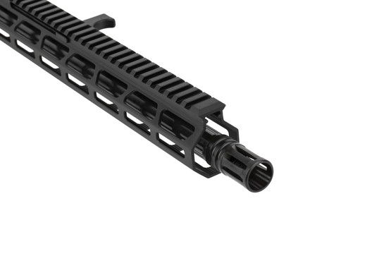FM Products 16in .45 ACP complete side charging AR15 upper receiver features an effective A2 flash hider