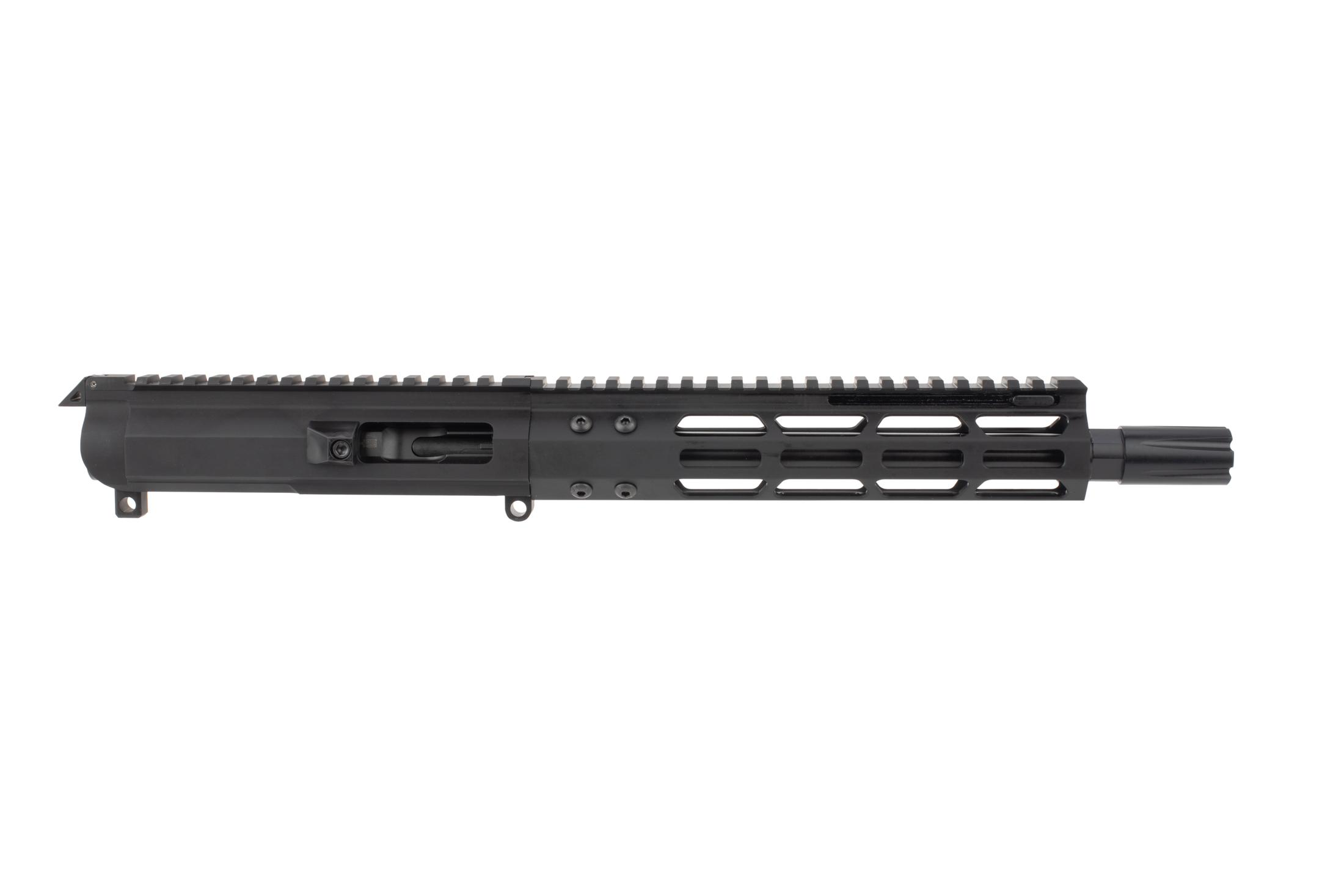 FM Products 8.5in complete AR-15 upper for .45 ACP fed by legendarily reliable Glock magazines and blowback action