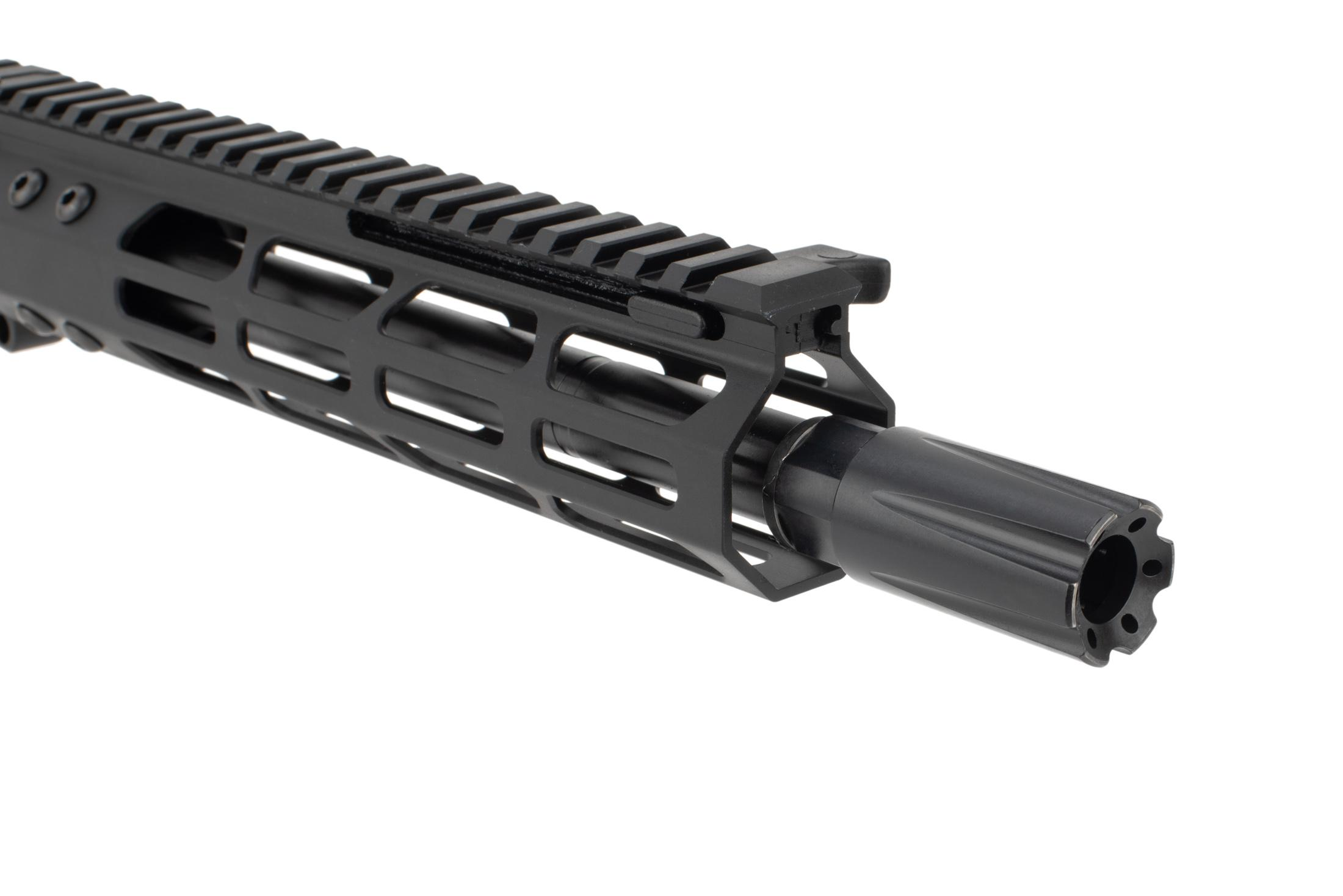 FM Products .45 ACP complete upper feeds from Glock magazines and has an effective blast diffuser