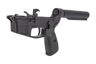 Foxtrot Mike Products FM45 complete lower receiver features a carbine length receiver extension