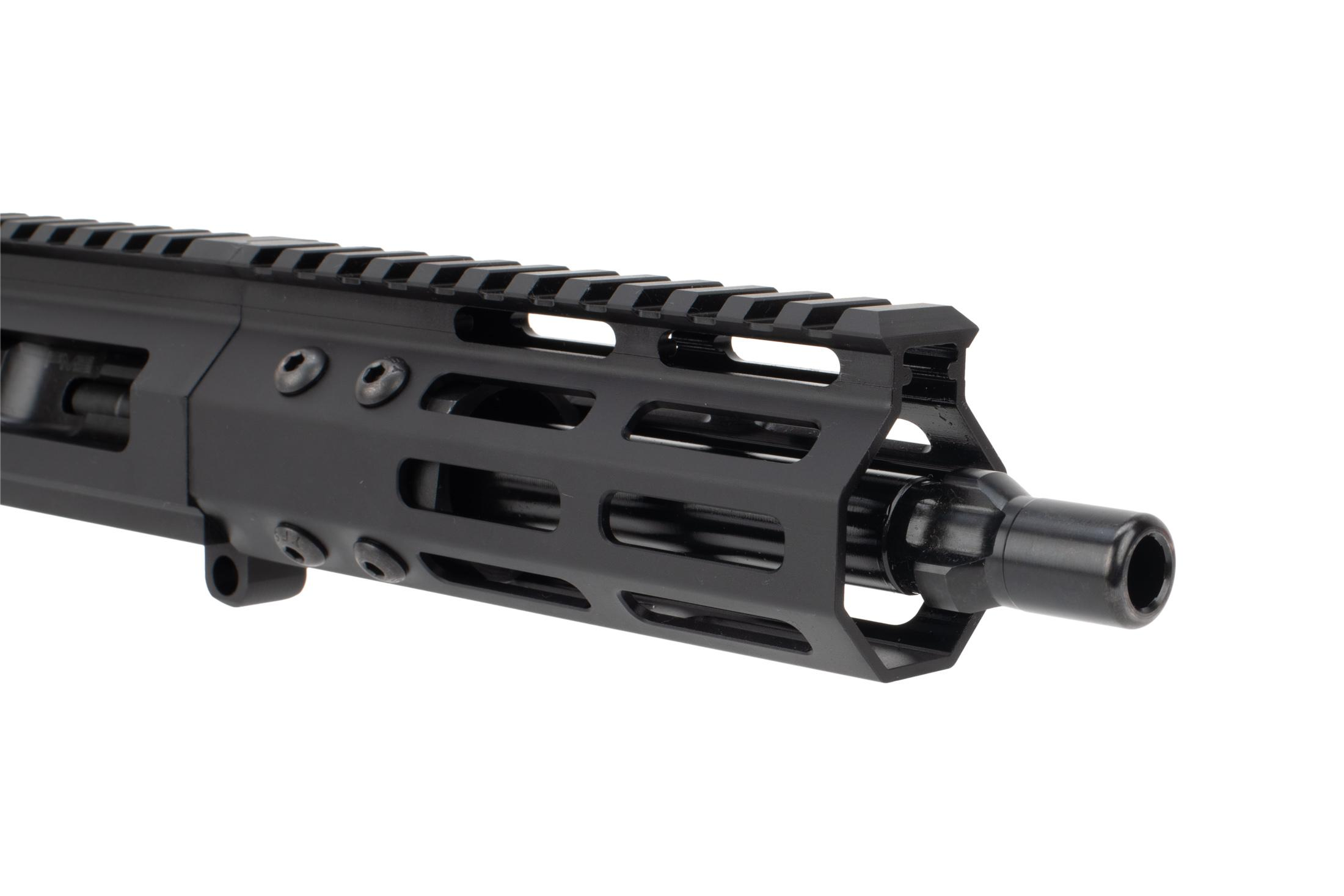 "Foxtrot Mike tri-lug 7 glock-Style complete upper is a primary arms exclusive with a 5"" M-LOK rail"