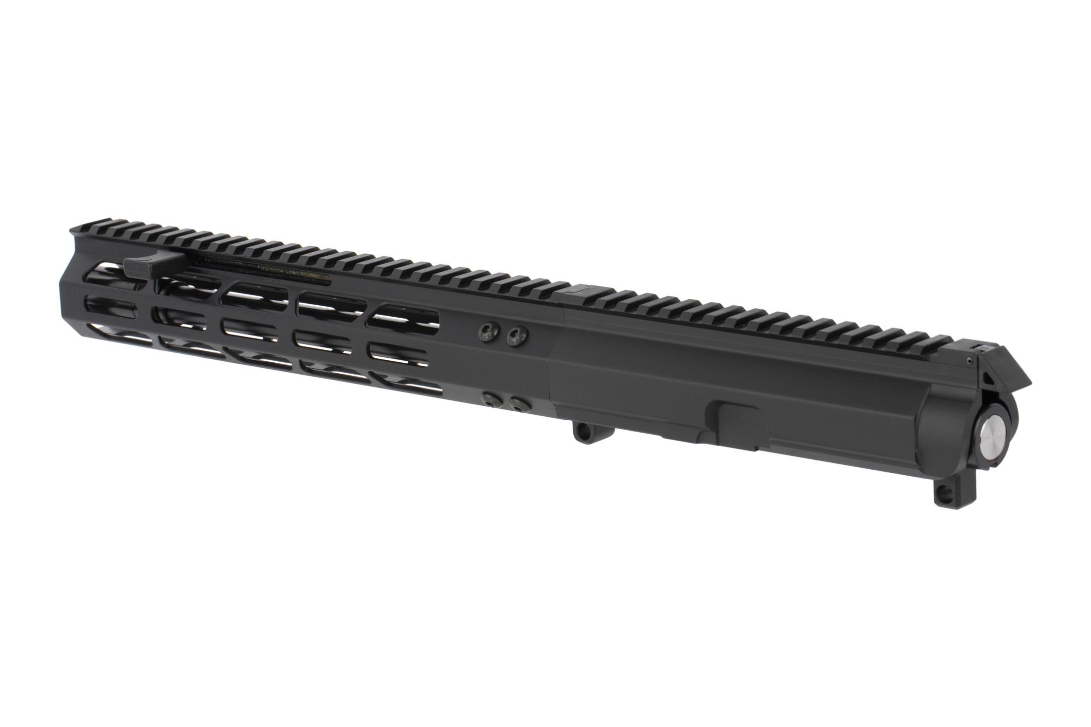 Foxtrot Mike Products 9.25 Complete 9mm Colt Style Upper with 10in M-LOK rail features a swappable forward charging handle