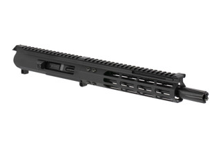 Foxtrot Mike Products complete 8.5in Colt-style upper in 9mm features a lightweight M-LOK rail and forward charging handle