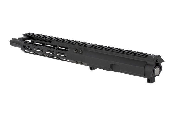 Foxtrot Mike Products 8.5in Complete 9mm Colt Style Upper with 8in M-LOK rail features a swappable forward charging handle