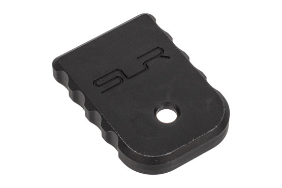 SLR Rifleworks Glock magazine floor plate is 6061-T6 aluminum with black anodized finish