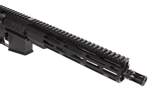 Radical Firearms 10.5in AR-15 pistol in 300 BLK is threaded 5/8x24 with an effective A2 flash hider.
