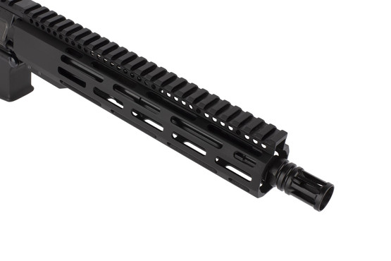 Radical Firearms 300 BLK AR pistol with 10.5in barrel is threaded 5/8x24 and topped with a highly effective A2 flash hider