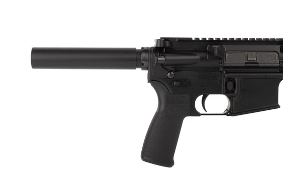 Radical Firearms 300 BLK 10.5in AR pistol is equipped with ambidextrous safety selector, enhanced magazine release, and pistol buffer tube