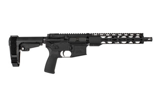 The Radical Firearms 300 BLK pistol 10.5 inch barrel comes with an RPR M-LOK handguard and SBA3 arm brace