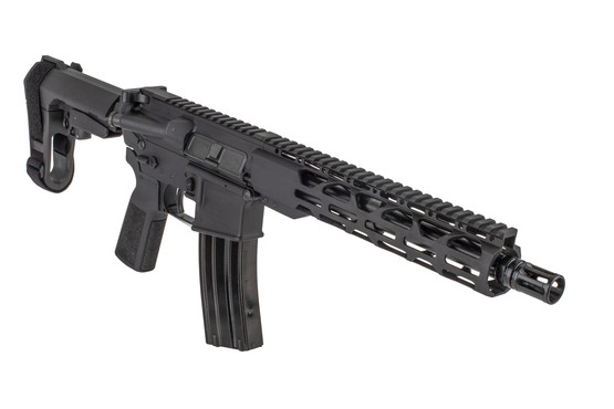 The Radical Firearms .300 BLK pistol with SBA3 brace features an A2 style flash hider