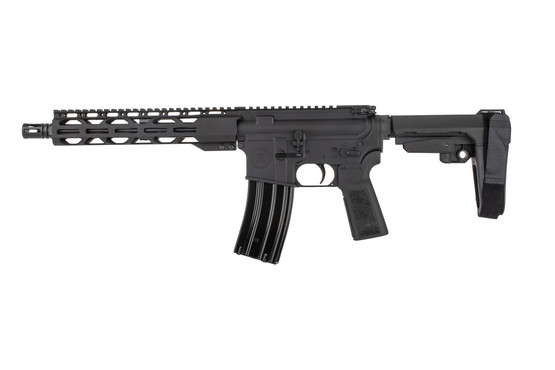 The Radical Firearms 300 blackout AR pistol with A2 flash hider features a heavy 1:8 twist barrel