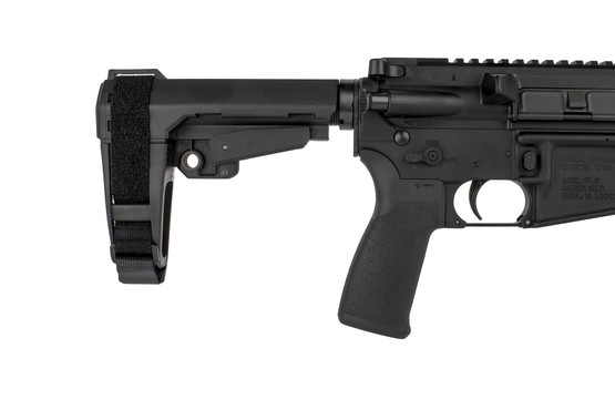 The Radical Firearms .300 BLK AR pistol with SBA3 arm brace comes with an MFT ergonomic pistol grip