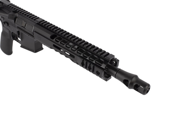 Radical Firearms .458 SOCOM AR pistol with 10.5in barrel is topped with a highly effective Panzer muzzle brake