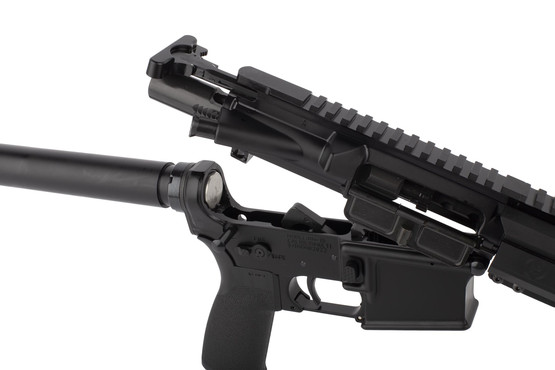 Radical 10.5in .458 SOCOM AR15 pistol featuers an M16 cut bolt carrier group and standard MIL-SPEC charging handle