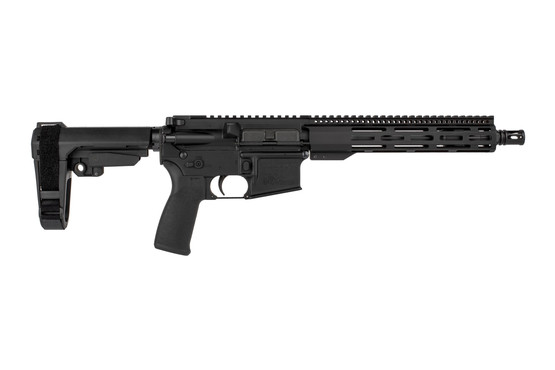 The Radical Firearms 5.56 Pistol features the SBA3 arm brace and FCR M-LOK handguard