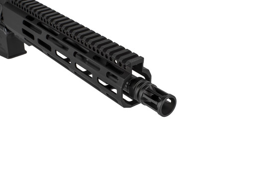 The Radical Firearms 5.56 NATO pistol comes with an A2 style flash hider
