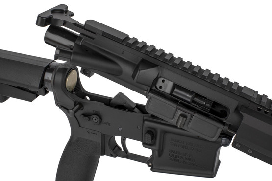 The Radical 5.56 AR pistol comes with an M16 BCG and standard charging handle