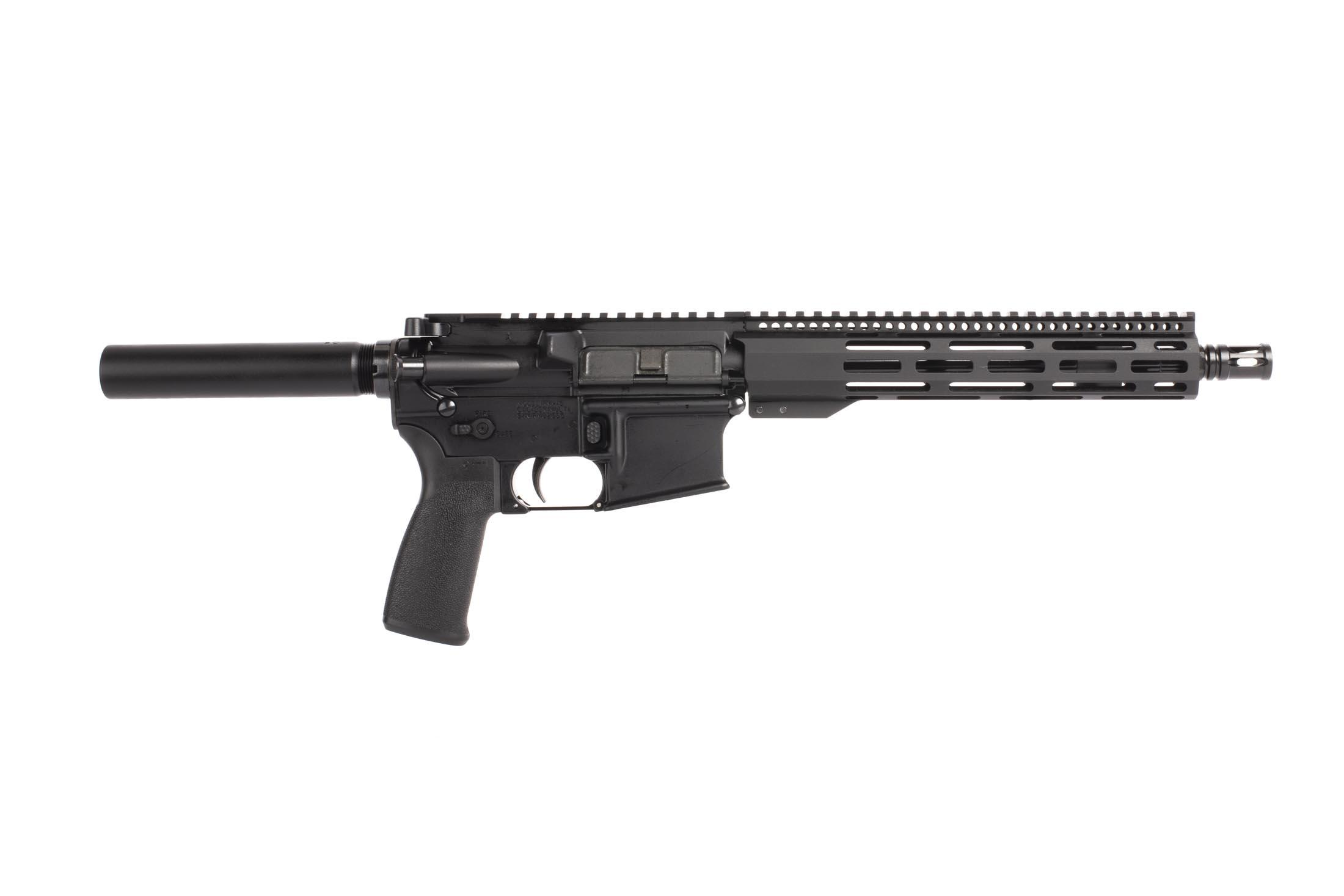 Radical Firearms 556 nato 10.5 inch AR-15 pistol has a lightweight M-LOK handguard and mission first pistol grip