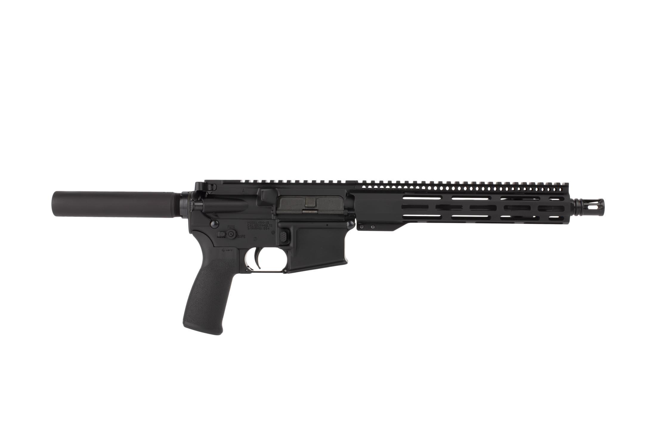 Radical Firearms 10.5in 5.56 NATO AR15 pistol features a reliable carbine length gas system