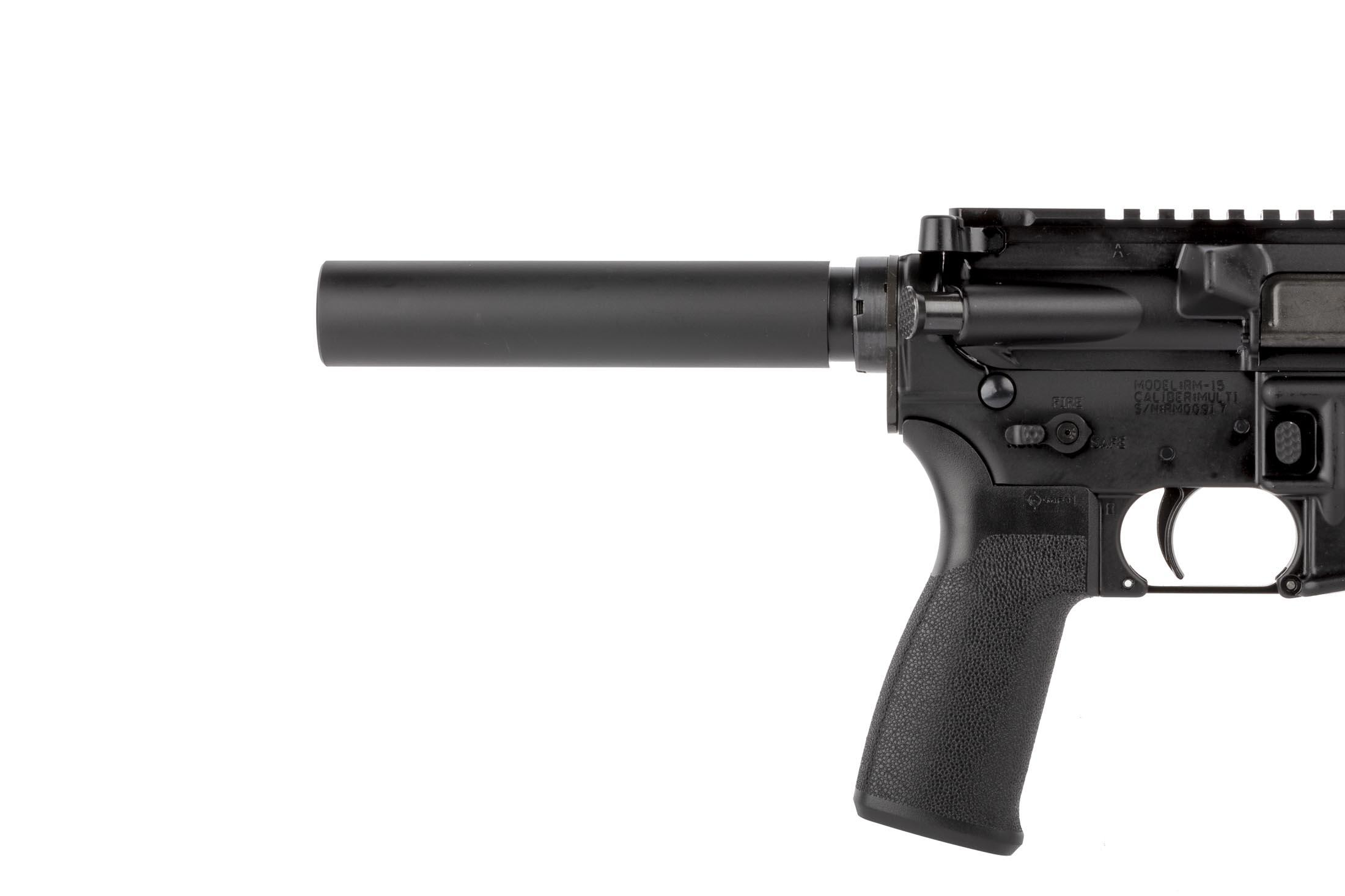 Radical Firearms AR-15 pistol with 10.5in 5.56 NATO barrel features an MFT pistol grip and a pistol buffer tube