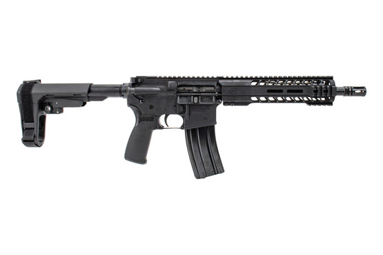 The Radical Firearms 5.56 NATO pistol features a carbine length gas system
