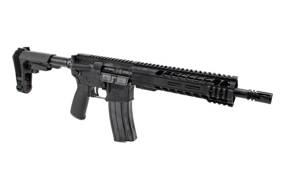 The Radical Firearms 5.56 AR pistol with 10.5 inch barrel features an A2 style flash hider
