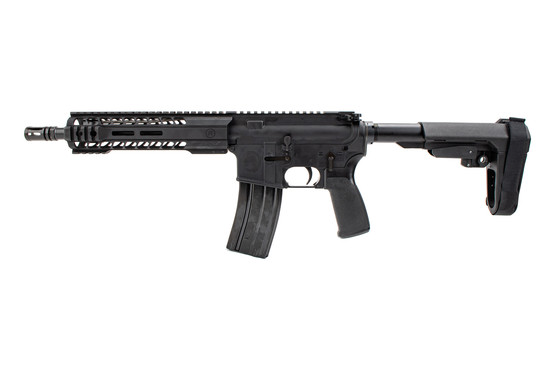 The Radical Firearms AR15 5.56 pistol comes with a 5 position adjustable SBA3 arm brace