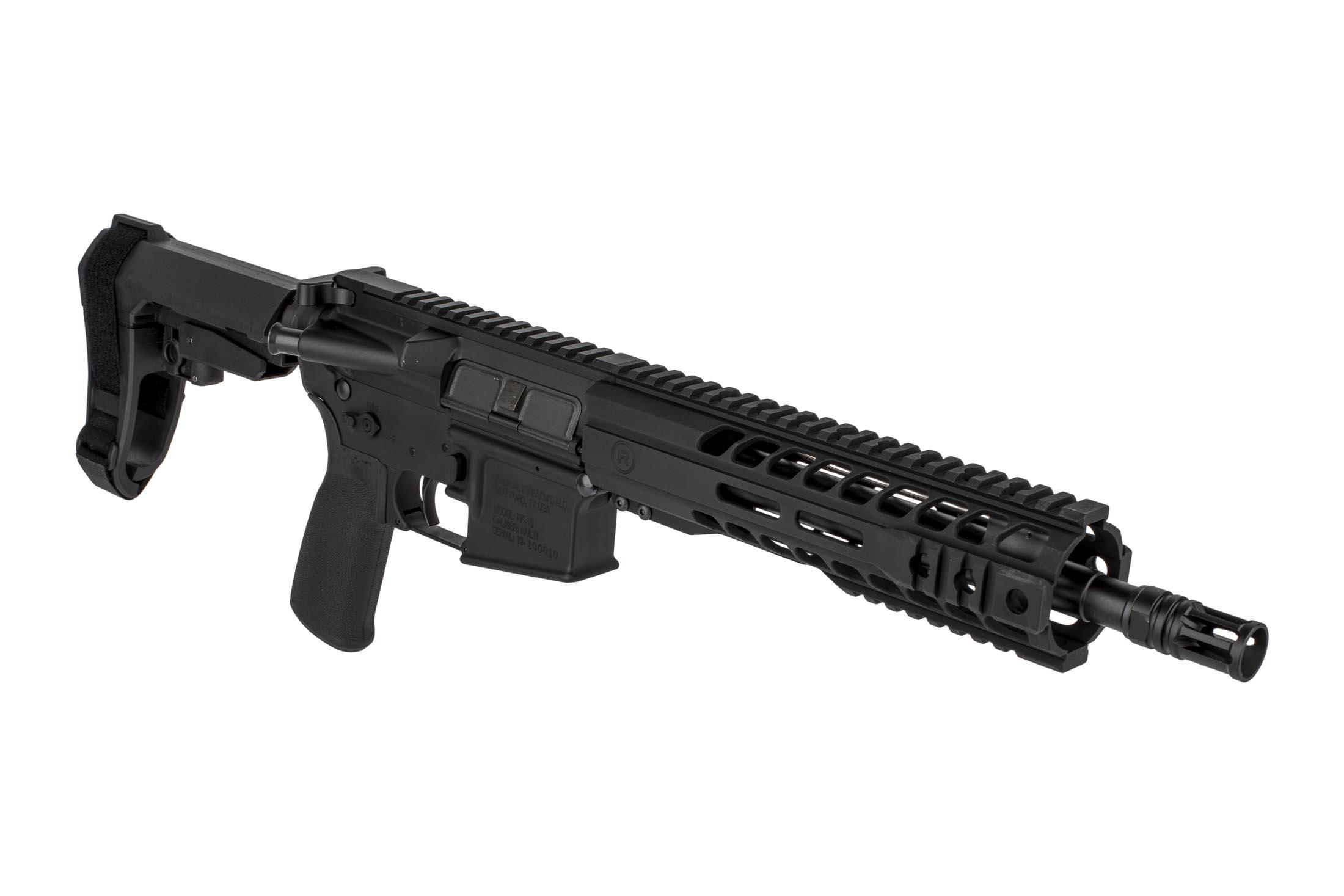 The Radical Firearms 7.62x39 AR pistol 10.5 inch barrel features a carbine length gas system