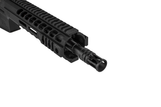 The Radical Firearms 7.62x39 AR15 pistol comes with an A2 style flash hider