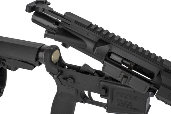 The Radical Firearms 7.62x39 pistol comes with a Phosphate bolt carrier group and standard charging handle