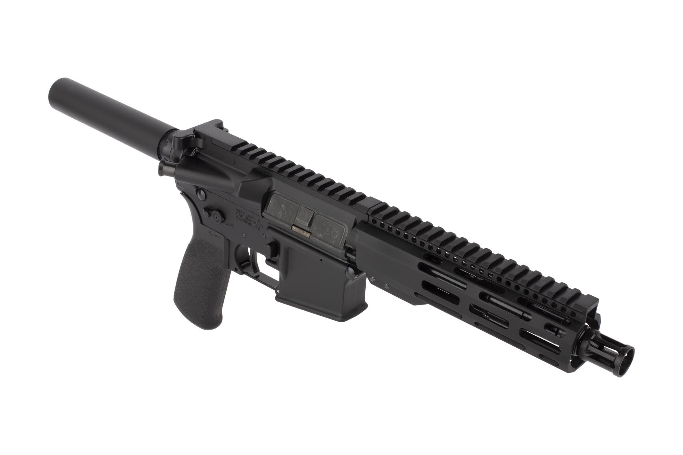 Radical Firearms 7.5in 5.56 NATO AR-15 pistol features a lightweight M-LOK handguard and effective Panzer brake