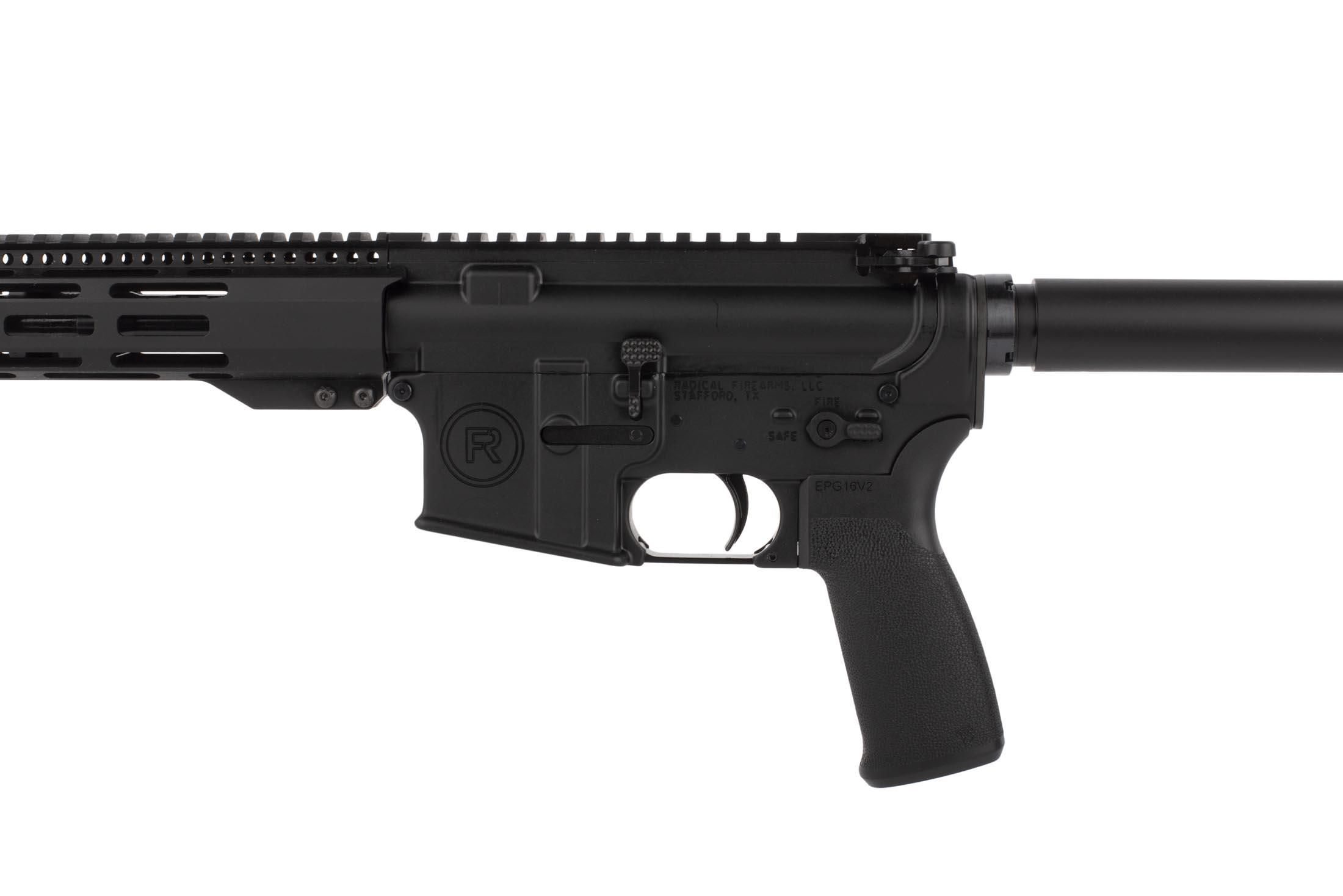 Radical Firearms 7.5in 5.56 NATO pistol with Mission First Tactical pistol grip is compatible with .223 Remington