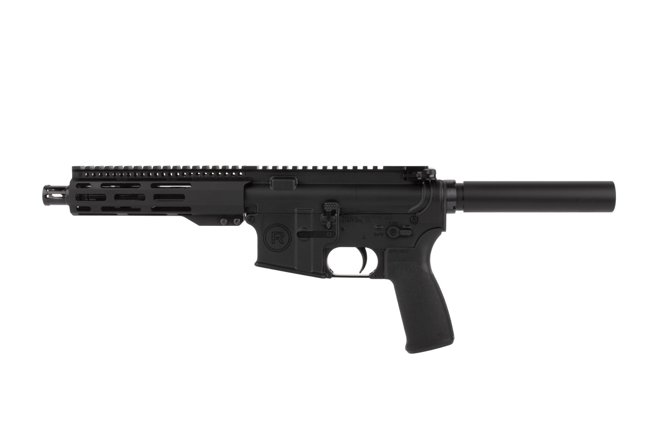 Radical 5.56 NATO 7.5in AR-15 pistol features a lightweight 7 inch free float M-LOK handguard