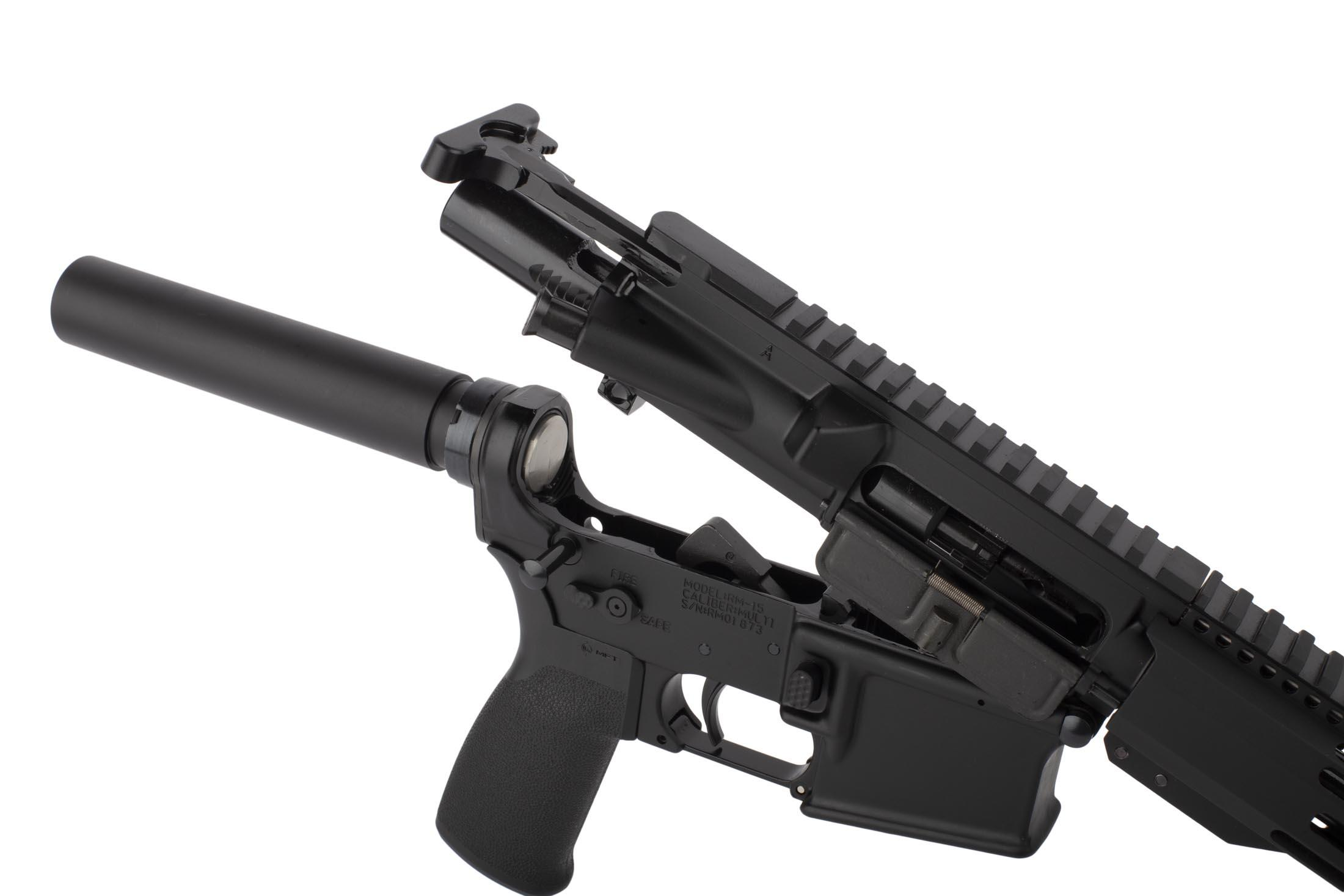 Radical 7.5in 5.56 NATO AR15 pistol featuers an M16 cut bolt carrier group and standard MIL-SPEC charging handle