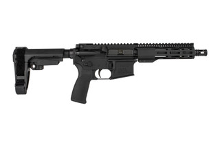 The Radical Firearms 5.56 Pistol with 7.5 inch barrel comes with an SBA3 arm brace
