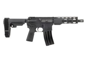 The Radical Firearms 5.56 pistol comes with an SBA3 arm brace and an RPR M-LOK handguard
