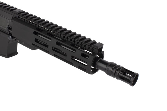 Radical Firearms 300 BLK AR pistol with 8.5in barrel is threaded 5/8x24 and topped with a highly effective A2 flash hider